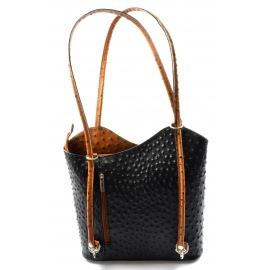 8b15241083 Kožená luxusná čierna s hnedou crossbody kabelka Royal