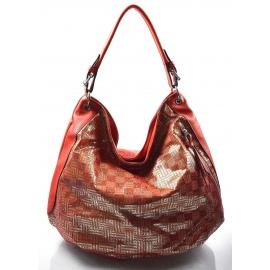 5ae348f59f červená moderná kabelka cez rameno Abril