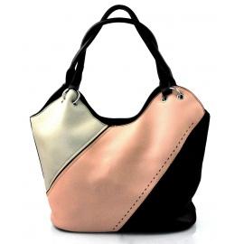luxusná italská kabelka s čiernou italien two dbedc220898