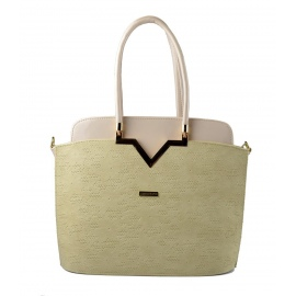 svetlo béžová luxusní kabelka Mathia