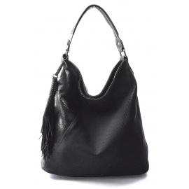 čierna designová kabelka Mix