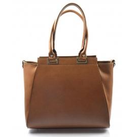 Kožená luxusná taupe hnedá menšia kabelka do ruky Miracle