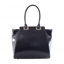 Kožená luxusná modrá menšia kabelka do ruky Miracle
