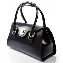 Kožená luxusná modrá kabelka Olgin