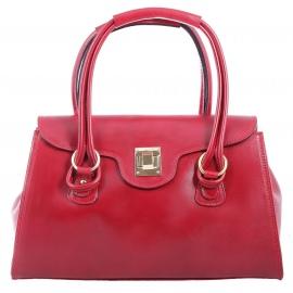 Kožená luxusná sýto červená Olgin