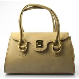 Kožená luxusná svetlo hnedá taupe kabelka Olgin