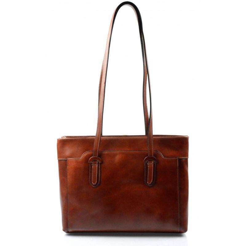 e8acf90544 Kožená hnědá kabelka na rameno Liones - KabelkyZoSvěta