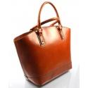 Kožená luxusná veľká mahaganovo hnedá kabelka Clasic
