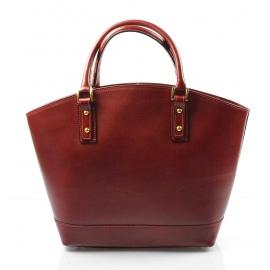 Kožená luxusná veľká červená kabelka Clasic