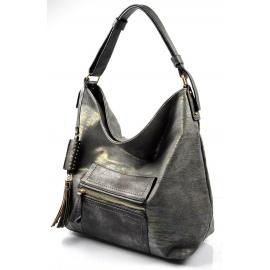 šedá duhová lesklá moderní kabelka Design