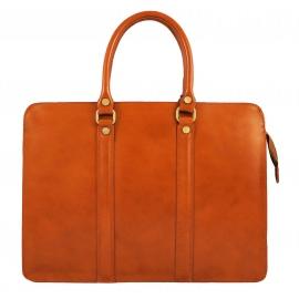 Kožená luxusná mahagonovo hnedá kabelka do ruky ester