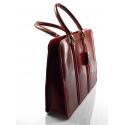 Kožená luxusná červená kabelka do ruky ester