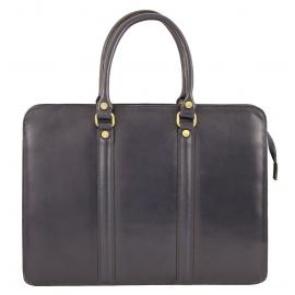 Kožená luxusná modrá kabelka do ruky ester
