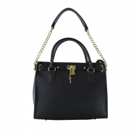 Kožená luxusná modrá kabelka do ruky francesi