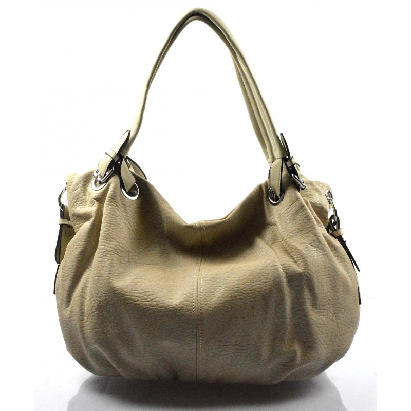 krásna svetlejšia béžova kabelka cez rameno roline - KabelkyZoSvěta 2a8bb49e706