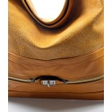 Elegantní velká hnědá volnočasová kabelka Italy
