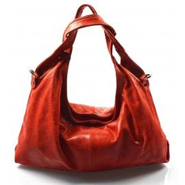 Kožená červená bordó kabelka na rameno jesica