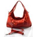 Kožená červená bordó kabelka cez rameno jesica
