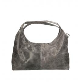 Kožená sivá kabelka cez rameno jesica