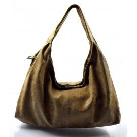 Kožená béžová kabelka cez rameno jesica