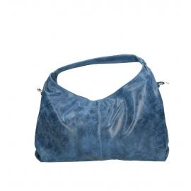 Kožená svetlo modrá kabelka cez rameno jesica