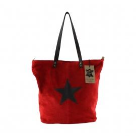 Kožená červená bordó taška cez rameno melisa