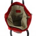 Kožená červená bordó taška na rameno melisa