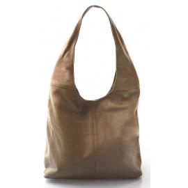 Kožená béžová taška cez rameno feris