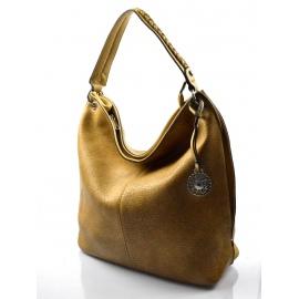 štýlová khaki hnedá kabelka cez rameno alisa