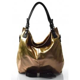moderná lesklá zlatá kabelka cez rameno angelica