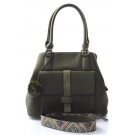 štýlová zelená kabelka cali