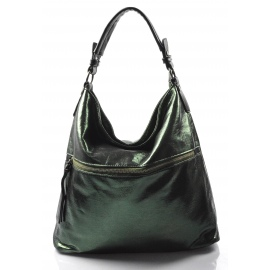 moderná lesklá zelená kabelka cez rameno guliana