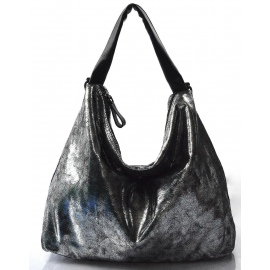 cbb9461d23 moderní lesklá stříbrná kabelka na rameno erin
