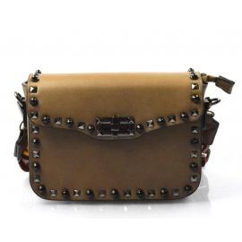 moderná menšia tmavo hnedá khaki crossbody kabelka maia 4812b33fc2e