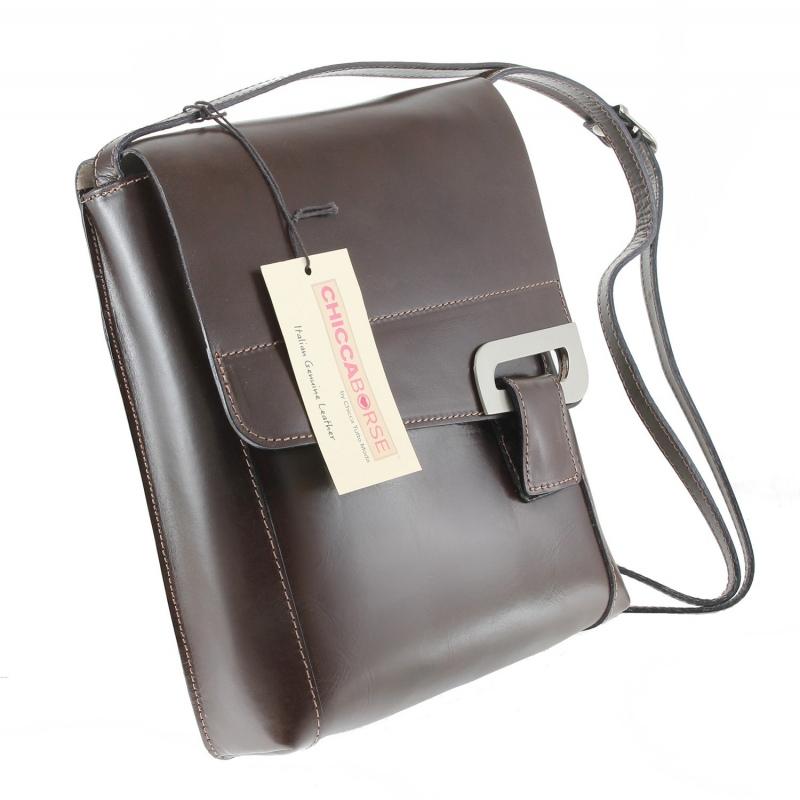 ... kožená menšia unisex hnedá crossbody kabelka cez rameno Jorge ... 2492148093c