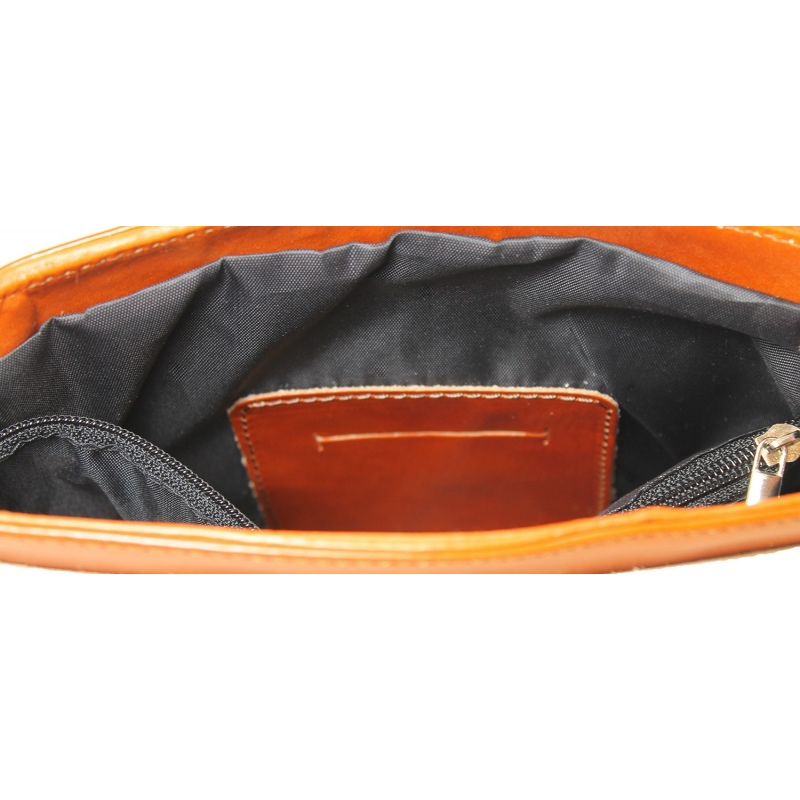 ... kožená menšia unisex koňaková hnedá crossbody kabelka cez rameno Jorge edd130db06b