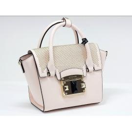 Luxusná růžová kožená kabelka cromia leaver