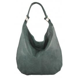 Kožená zelená taška cez rameno relic