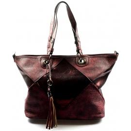 krásna bordó kabelka cez rameno charlize