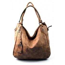 netradičná cihlovo  hnedá kabelka Mona lis