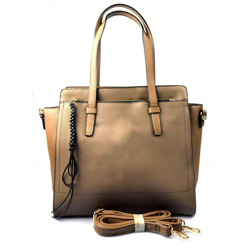 3964cdc138 krásna khaki hnedá kabelka cez rameno roline - KabelkyZoSvěta