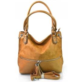 moderná hnedá brown shopper taška charlie