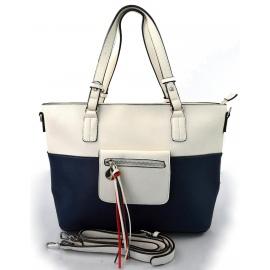 moderná italská kabelka s tmavo modrou ally