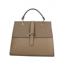 Kožená béžová luxusná kabelka do ruky adelina