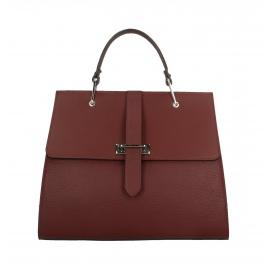 Kožená červená bordó luxusná kabelka do ruky adelina