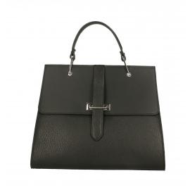 Kožená čierna luxusná kabelka do ruky adelina