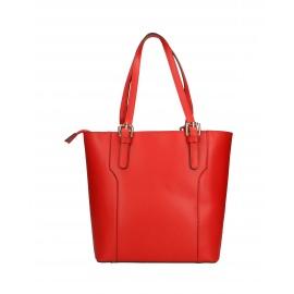 Kožená moderna vysoká červená kabelka cez rameno carine