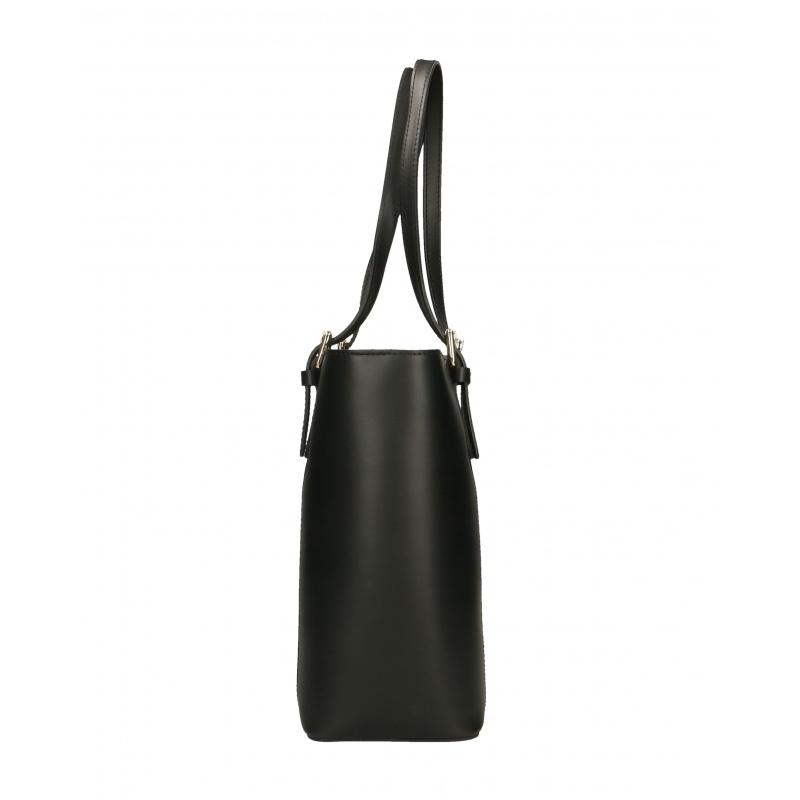 759091553c Kožená moderní vysoká černá kabelka na rameno carine - KabelkyZoSvěta