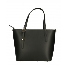 Kožená čierna veľká taška cez rameno mirabelle