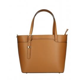Kožená hnedá camel veľká taška cez rameno mirabelle